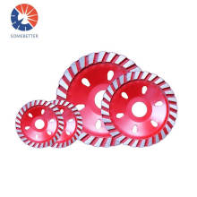 115mm continuous turbo diamond grinding cup wheel for wet disc/dry disc for concrete