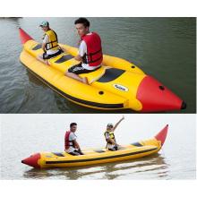 Auffällige gelbe aufblasbare Banane Wasser Spielzeugboot