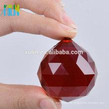 20mm Lustres Bola De Cristal Vermelho Bola Feng Shui Prismas