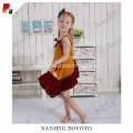 kids boutique Corduroy mustard&burgundy suit-dress