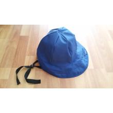 Sombrero azul oscuro de la PU de la lluvia / casquillo de la lluvia / impermeable para el adulto