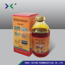 Injction animale de nitroxinil 34%