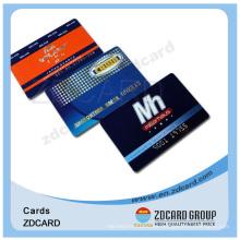 Tarjeta de membresía de tarjeta de visita plástica impresa transparente