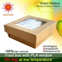 2013 neueste Fast-Food-Verpackung, quadratische Fast-Food-Box mit Fenster
