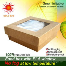 2013 Newest Fast Food Packaging, Square Fast Food Box with Window