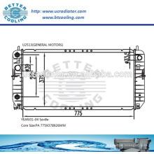 Radiador de agua para General Motors Sevilla 01-04 OEM: 52486867/52486868