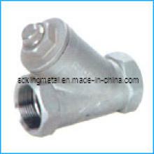 Fundido de cera perdida Aço inoxidável 316 Filtro de rosca DIN