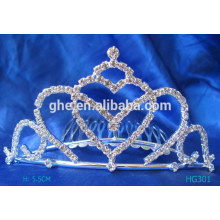 Kundenspezifische Plastik-Tiara-Fee Prinzessin Tiara Perle Braut-Tiara-Zauberstab Perücke Tiara-Set