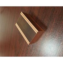 Dissipateur à ailettes en cuivre à glissière
