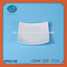 Quadratische Platte, keramische Platte für Hotel, benutzerdefinierte Geschirr Platte, Keramikplatte