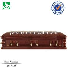 JS-A611 precios ataúdes de madera personalizado