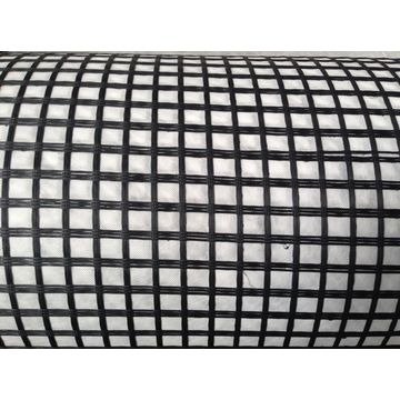 Coated Fiberglass Geogrid Composite With Geotextile By Glue