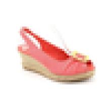 2015 Самый последний способ сексуальных девушок высокой пятки ботинок клина конфеты женщины клина розовый сандалии