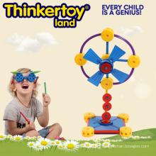 Электрическая модель вентилятора Образование & интеллектуальное здание Кирпичная игрушка