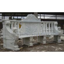 Silla de mármol de piedra antigua para los muebles al aire libre del jardín (QTC072)