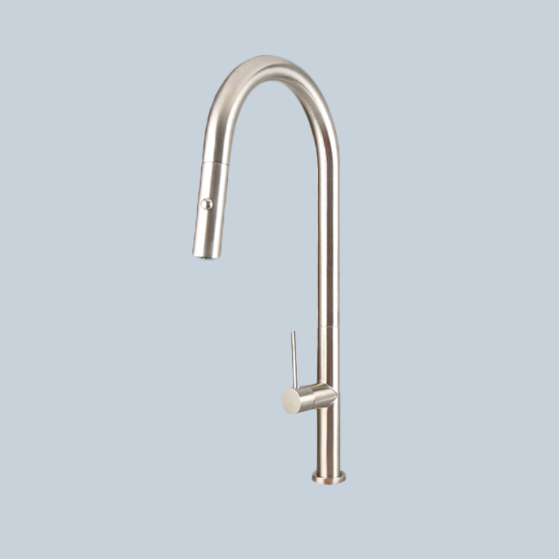 Stainless Steel Kitchen Pull Faucet 1