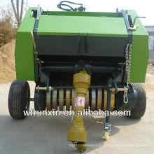 Автоматический компактный пресс-подборщик сена с трактором для соломы из стеблей травы