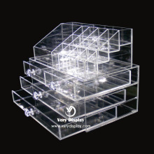 Cosméticos de maquillaje personalizados organizador de acrílico transparente