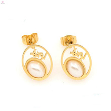 Beautiful new design stainless steel light weight gold earring