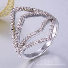 925 prata italiana anel anel de prata esterlina espaços em branco