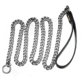 Factory Drop Shipping 15mm/19mm Dog Leashes Dog Chain Collars Two In One For Large Dogs Stainless Steel Pet Leash Chain