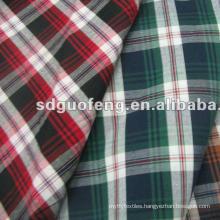 Wholesale T/C Woven Plaid Check Yarn Dyed Fabric for Shirt poplin shirting fabric