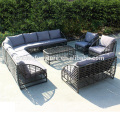 Round rattan sofa wintech wicker furniture