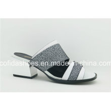 16 New Style Double Color Leather Slipewomen Shoes