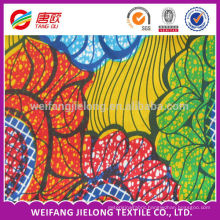 100% cotton african batik wax fabric real wax fabric
