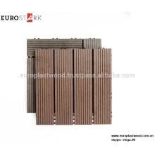 Outdoor DIY flooring azulejos de madeira de plástico composto wpc decking