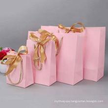 Custom logo cosmetic paper gift bag fashion packaging brown kraft paper bag