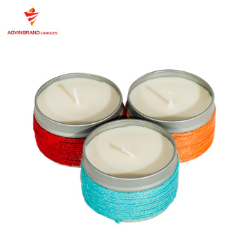 Custom Private LabelSoy wax candle in Tin