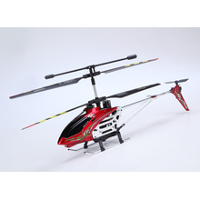 3.5CH Mid Size RC Metal Helicopter with Gyro Blast Red Color