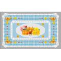 China Fabrik Billig Alle in Einem Unabhängigen Design LFGB Transparent Gedruckt Tischdecke 90 * 145 cm