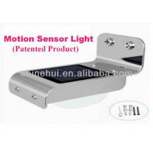 CE de la alta calidad, ROHS y aprobación de IP65 Luz solar de la puerta delantera del LED con el sensor sano y el sensor ligero