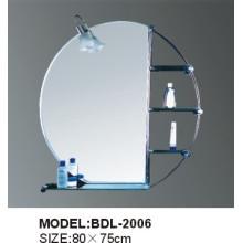 Espejo de baño de vidrio de 5 mm de espesor de plata (BDL-2006)