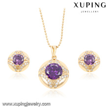 61844 Xuping fashion best selling beautiful dinner jewelry set with elegant delicate pendant