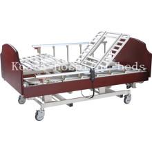Fonctions 5 en bois Rotation du lit d'hôpital électrique pour les patients paralysés