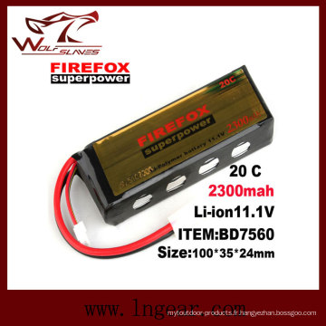 Firefox 11.1V 2300mAh Lipo Li-Po Li-polymère Batterie 20C superpuissance