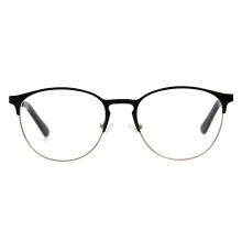 High Quality Fashionable Custom Logo Ladies Metal Stainless Steel Stylish Glasses Frame Women