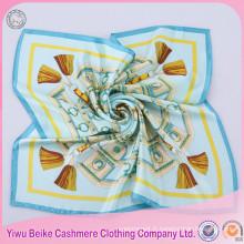 Foulards 100% en soie de la plupart des femmes populaires foulard de cou carré de Chine