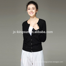 14GG 100% Merino Wool Women Cardigan Wholesale Sweater OEM