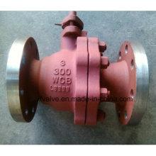 ANSI 150lb / 300lb robinets à billes d'extrémité en fonte d'acier