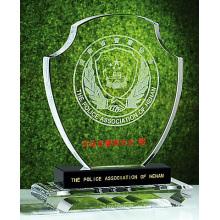 Diseño personalizado Crystal Glass Trophy Award para Regalos promocionales