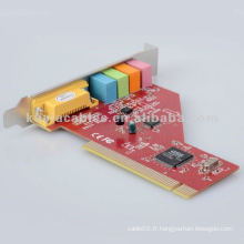 Hot PCI Sound Card avec ES1938S Audio pour Windows 98 / ME / 2000 / XP / Vista