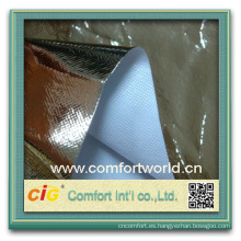Moda nuevo diseño bastante colorido ningbo impresión tela PP no tejida laminada con aluminio