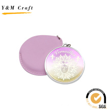 Top Sale Round Shape Pink PU Mirror with Epoxy Doming