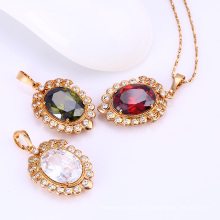 31541-Xuping jóias grandes pingentes de cristal de pedra por atacado