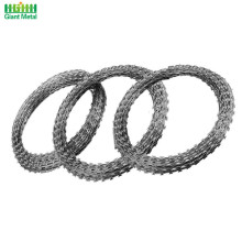 Galvanized Steel Single Loop Tentera Barbed Razor Wire