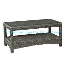 Small PE Rattan Coffee Table for Garden Sofa